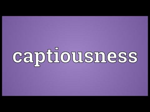 Header of captiousness