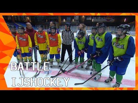 Battle IJshockey met Raymond van der Schuit en Isabelle Schollaardt | ZAPPSPORT