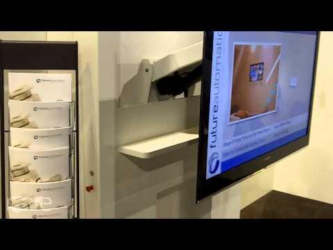 CEDIA 2013: Future Automation Demos EAD Electric TV Bracket