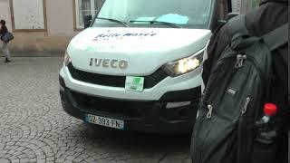 Iveco delivery truck on Rue des Dentelles, Grand Île, Strasbourg, France