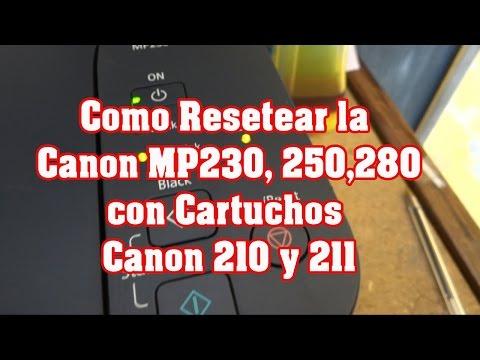 Como Resetear Canon Pixma MP230 250 280
