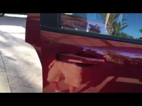 Herz rental car in Los Angeles international airport