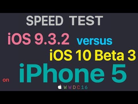 iPhone 5 : iOS 9.3.2 vs iOS 10 Beta 3 Build 14A5309d Speed Test