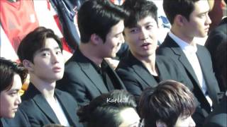 [fancam] 160409 EXO Reaction when watching SNH48 Performance (Sehun focus)