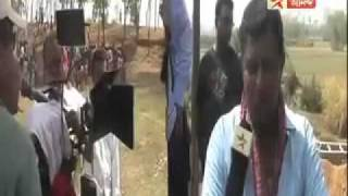 Nobel Chor - On the set of Bengali Film Nobel Chor- Mithun Chakraborty with crews