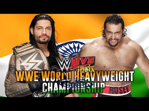 Roman Reigns Vs Rusev WWE Live India 2016 Live Reaction (WWE World Heavyweight Championship) HD
