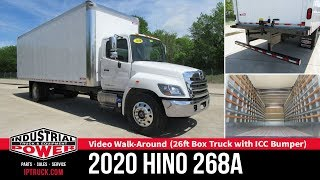 2020 HINO 268A 26ft Box Truck with ICC Bumper | Dallas Commercial Truck Review