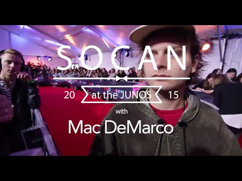 SOCAN Interviews Mac DeMarco @ The Junos 2015