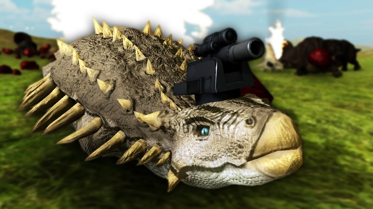 DINOSAURS WITH GUNS! | Beast Battle Simulator