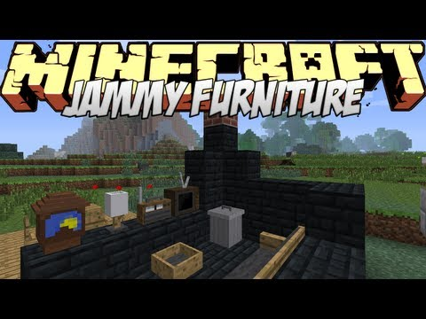 Minecraft Mods Showcase - Jammy Furniture Mod! (1.7.10)