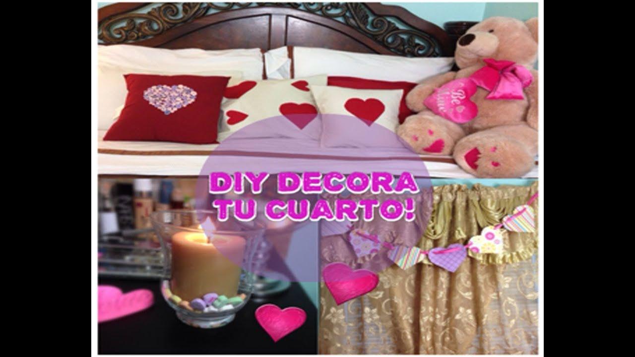 Diy decora tu cuarto para san valentin youtube for Como decorar una habitacion de estudiante