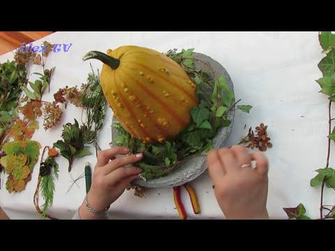 02:49 Herbst Dekoration Mit Kürbis. Mit Materialien Aus Dem Garten Selber  Basteln Schnell Und Einfach .