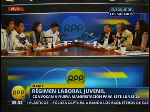 Viceministro de Promoción del Empleo presente en debate sobre régimen laboral juvenil - Parte III