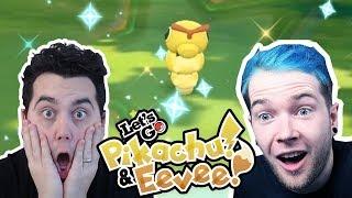 DANTDM vs aDRIVE! SHINY RACE in Pokemon Let's GO Pikachu and Eevee!
