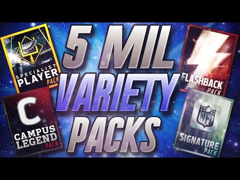 5 MIL VARIETY PACK OPENING! 99 OVR PULLS! - Madden Mobile 16