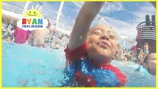DISNEY CRUISE Fantasy Tour Family Fun Vacation! Splash Pad Pool Kids Playtime Compilation Video
