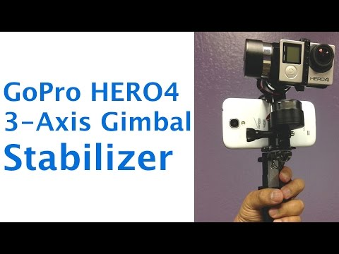 Z1 Rider 3 Axis Gimbal for GoPro HERO3 HERO4 Cameras Stabilizer Review