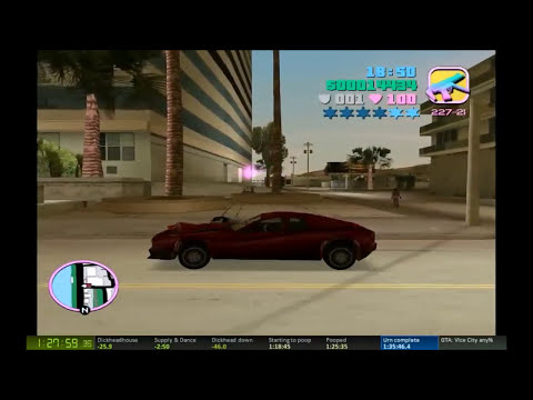 GTA: Vice City any% Speedrun in 1:32:34 (My current Personal Best)