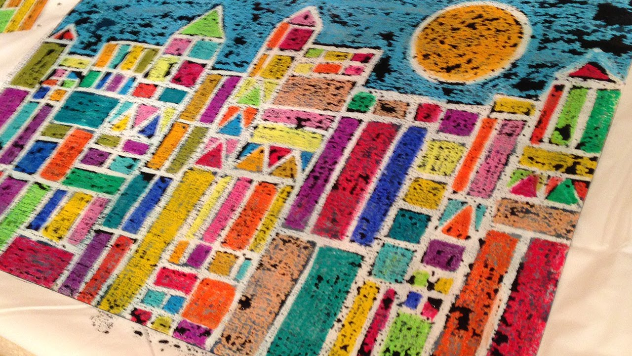 Cray pas art in the classroom paul klee inspired for Oil painting lessons near me