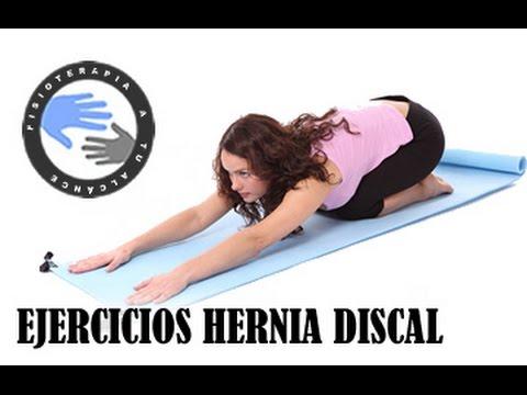 Hernia de disco, ejercicios para mejorar el dolor lumbar  /  Fisioterapia a tu alcance