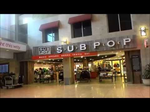 The Cool Sub Pop Records Store in Seatac Airport in Seattle - complete with vinyl