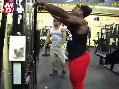 Victor Martinez and Kai Greene Train Arms Part 2 Video