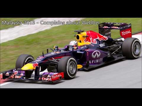 Sebastian Vettel Angry Team Radio Compilation