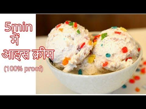Быстрое мороженое рецепты