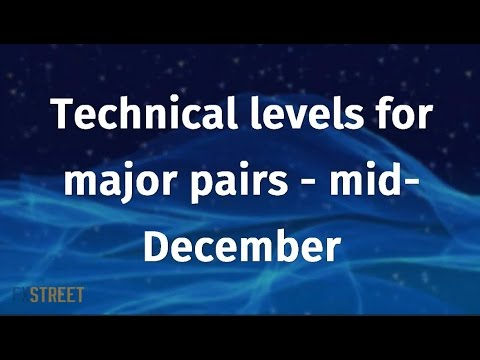 Technical levels for major pairs - mid-December