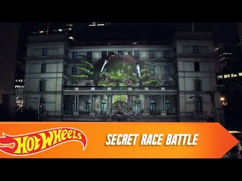 Hot Wheels Secret Race Battle -- 3D Projection Mapping in Sydney