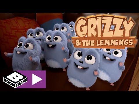 Grizzy Ve Lemmingler | Araba Yarışı | Boomerang