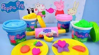PEPPA PIG DINNER PLAY SET PLAY DOH ~PEPPA PIG AVONDETEN SPEELSET VAN KLEI