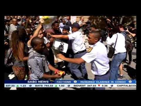 Lukhanyo Calata on student protests outside Parliament