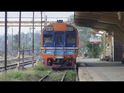 SRT Southern Line Special Exp 43 Bangkok – Surat Thani Daewoo DMU Thailand  ทางรถไฟสายใต้