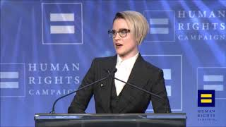evan rachel wood coming out as bisexual hrc speech clip