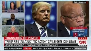 CNN: Dr Jason Johnson on Trump Tweets Attacking Rep. John Lewis 1/14/17