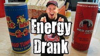 Energy Drank - Ms. Pac Man Warp Tunnel Energy Drink vs Red Devil Energy Drink