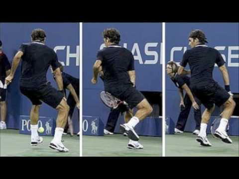 TWEENER! Roger Federer Between Legs Shot V Brian Dabul 2010 US OPEN HD