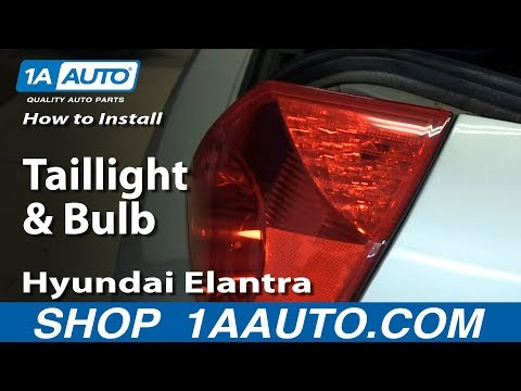 How To Install Replace Change Taillight and Bulb 2001-06 Hyundai Elantra
