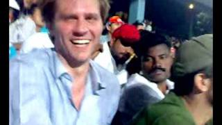 Indian ragging australians at wankhede stadium