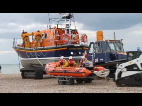 RNLI Hastings Lifeboat  Training Exercise Launch