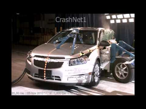 Краш-тест Chevrolet Cruze | 2011 | Side Crash Test | High Speed Camera | NHTSA Full Length Test