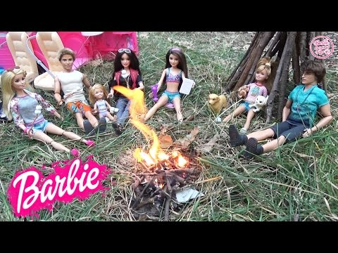 Мультик Барби на пикнике Челси, Кен и Ракель Истории с куклами для детей ♥ Barbie Original Toys