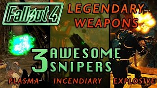 3 AMAZING Sniper Rifles (Legendary Weapons) | Fallout 4