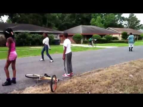Girl Running From Fight video