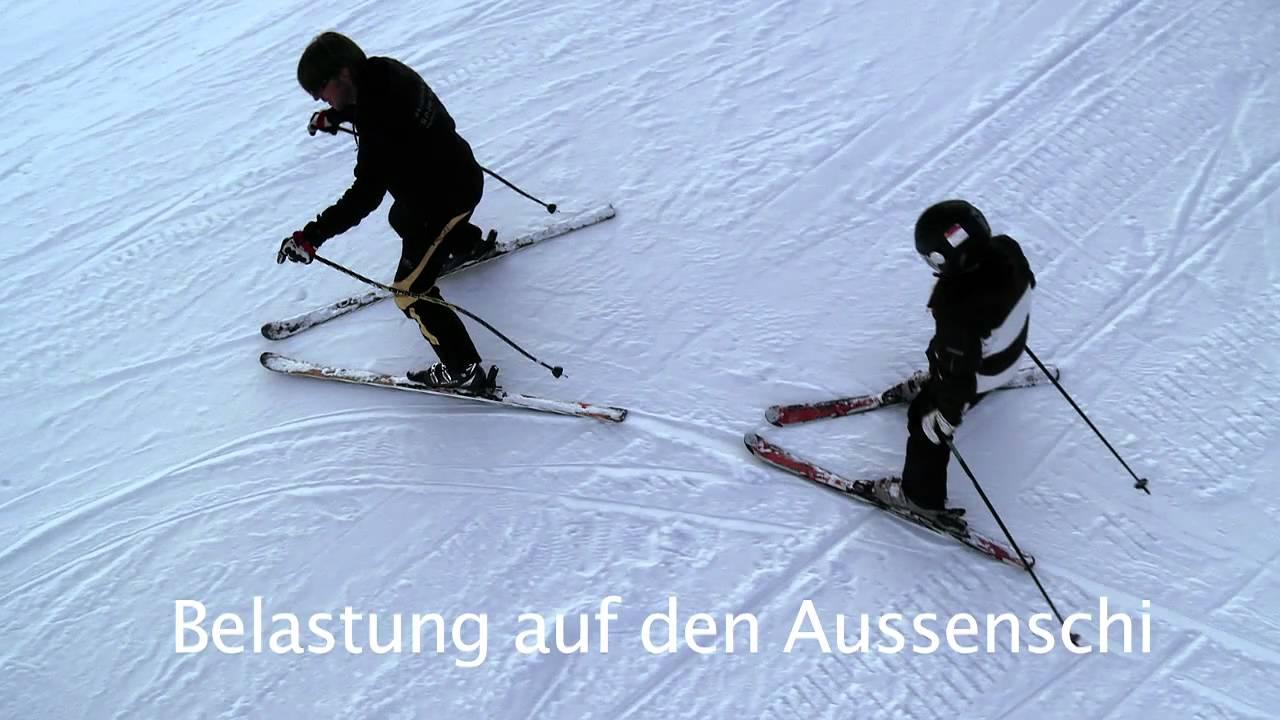 Skifahren lernen der pflugbogen youtube