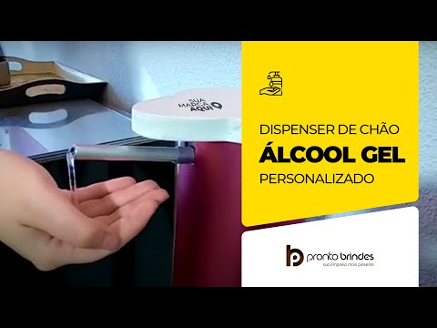DISPENSER DE ALCOOL EM GEL PERSONALIZADO - SMART GEL - PRONTO BRINDES