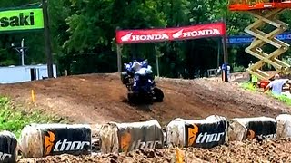 Thomas Brown's Crash at 2013 Loretta Lynn's ATVA National