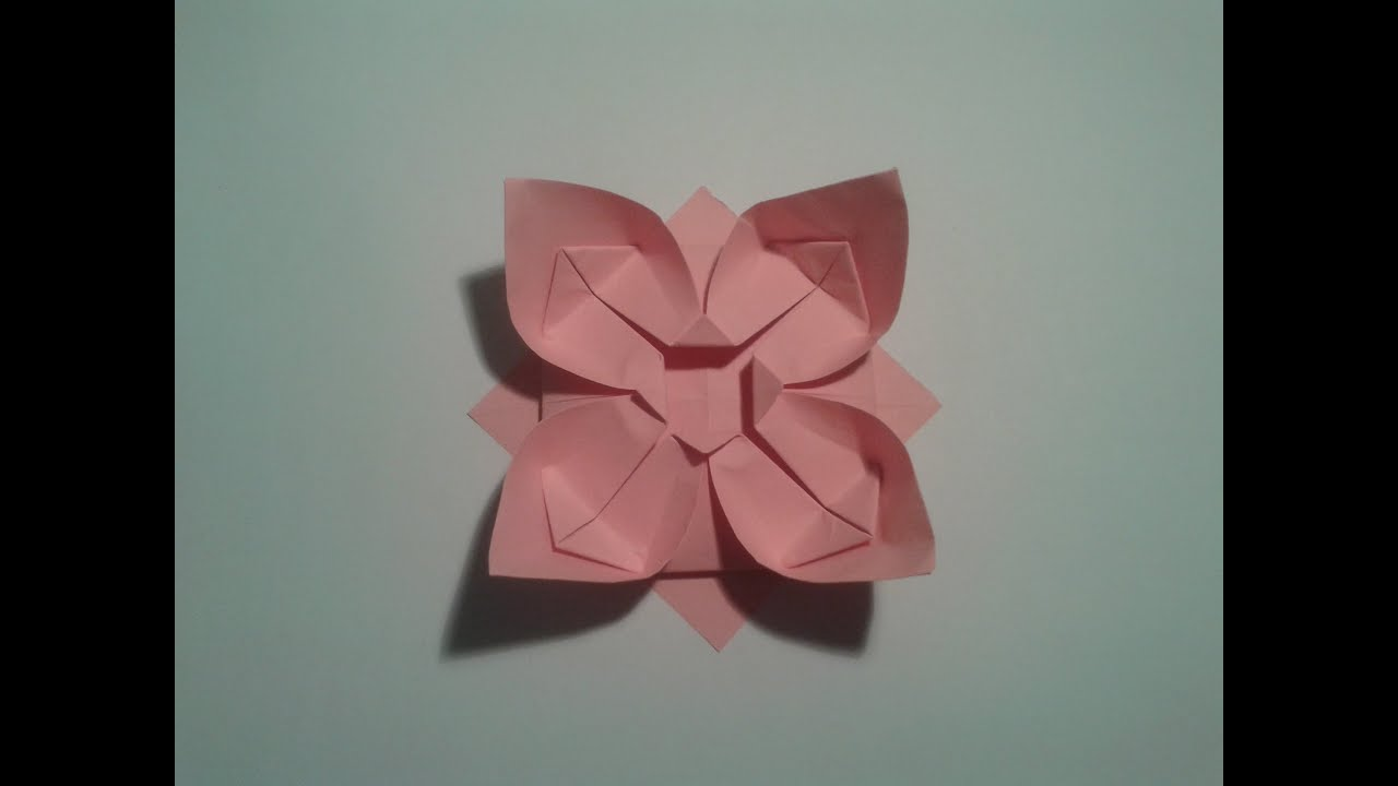 How to make an easy origami flower video