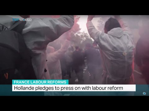 Hollande pledges to press on with labour reform, Peter Humi reports